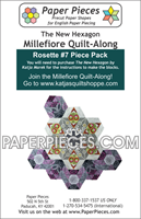 Rosette 7 The New Hexagon Millefiore Quilt-Along-Paper Pieces-Katja Marek