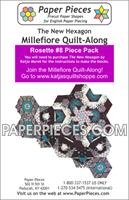 Rosette 8 The New Hexagon Millefiore Quilt-Along-Paper Pieces-Katja Marek