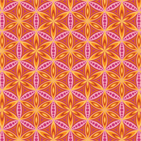 Benartex 6191-39 Flower of Life Orange Pink