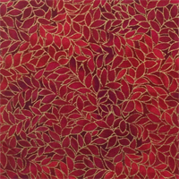Blank Quilting 088-3795  Leaf Allover Cardinal