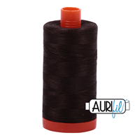 Aurifil Uni 1130 Dark Brown Quilting Sewing Tread Naaigaren