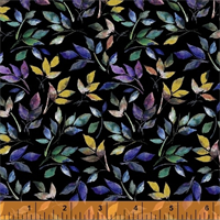 Windham Fabrics 50215M-2 Romance Florish Black