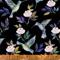 Windham Fabrics 50213M-2 Romance Florish Black