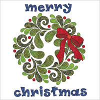 Applique Elementz Merry Chrismas Good Tidings Batik