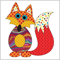 Applique Elementz Frisky Fox Red Dotz