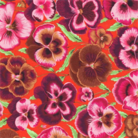 Kaffe Fassett Philip Jacobs PWPJ-076 Pansies Orange