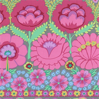 Kaffe Fasset PWKF-001 Embroidered Flower Border Pinkx
