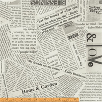 Windham Fabrics 2504-800 Newspaper