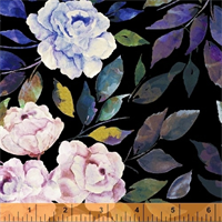 Windham Fabrics 50212M-2 Romance Florish Black