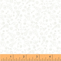 Windham Fabrics 50634-4 Road Trippin White on White