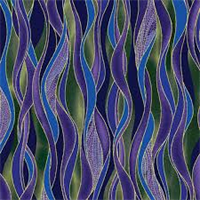 Benartex 8503M-60 Dancing Waves Blue/Purple