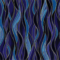 Benartex 8503M-55 Dancing Waves Navy