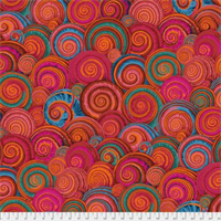 Philip Jacobs PWPJ-073 Spiral Shells Orange