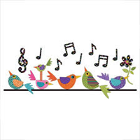 Applique Elementz UEA-1320 Song Birds - Dotz