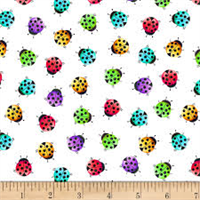 Blank Quilting 9626-01 Bugs Galore! Ladybugs White