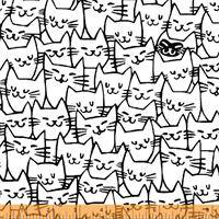 Windham Fabrics 51121-1 Cat Happy White