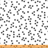 Windham Fabrics 51122-1 Cat Happy White