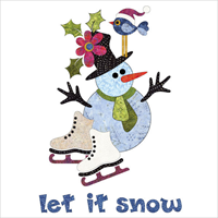 Applique Elementz UEA-1279 Let it Snow - Wall Hanging Batik