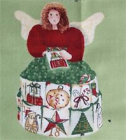 Christmas panel fabric angel doll