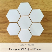 Fabbies Paper Pieces 100 st. Hexagon 3/4