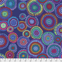 Kaffe Fassett PWGP-176 Mosaic Circles Blue