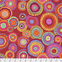 Kaffe Fassett PWGP-176 Mosaic Circles Red