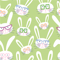 Paintbrush Studio 120-21507 Bunny Glasses Green