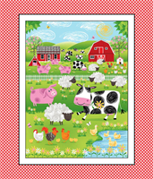 Henry Glass Fabrics 9018P-88 Red Panel Best Friends Farm