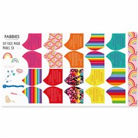 Fabbies Facemaskkit Round Rainbow