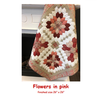 Flowers in Pink Stamp and Patch