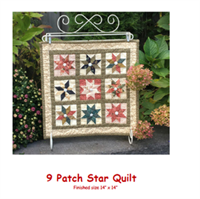 9 Patch Star QuiltStamp and Patch