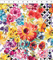 Benartex 4HL1 Hummingbird Lane  Floral multi
