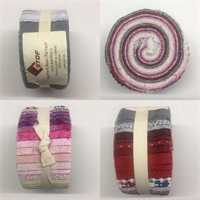 Jelly Roll Quilters Basic Perfect Pink White Red