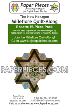 Rosette 6 The New Hexagon Millefiore Quilt-Along-Paper Pieces-Katja Marek