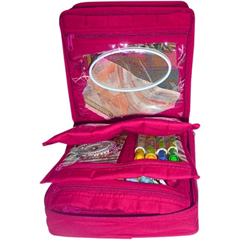 Yazzi CA16 The Double Deluxe  Organizer Pink