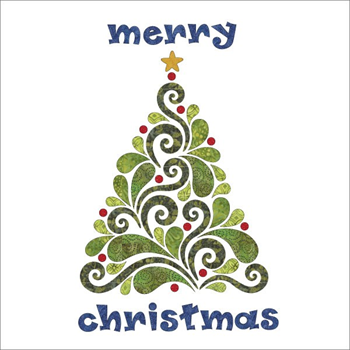 Evergreen Batik Applique Elementz Merry Christmas