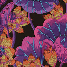 Kaffe Fassett PWGP-093 Lake Blossoms Black