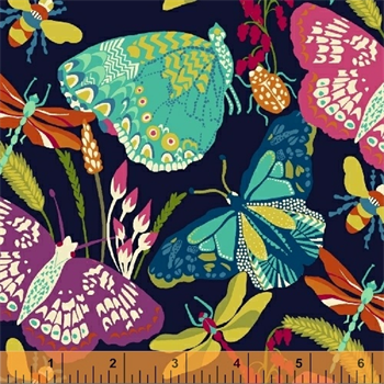 Windham Fabrics 50233-1 Butterfly Dance Black