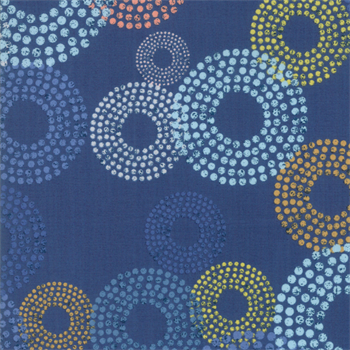 MODA 1690-16 Breeze Dottie Circles Indigo