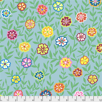Kaffe Fassett PWGP-175 Busy Lizzy Turquoise